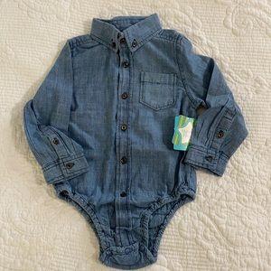 Nursery Rhyme Play Chambray Onesie Shirt 24mo
